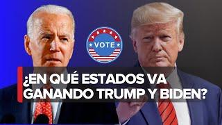 Estados ganados por Donald Trump y Joe Biden