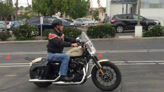 California driving test for the motorcycle driver's licence