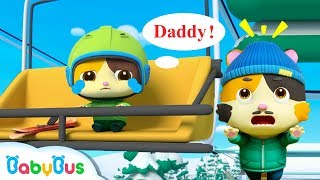 Baby Kitten Rides the Ski Lift Alone | Play Safe Song | Nursery Rhymes | Kids Songs | BabyBus