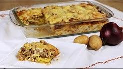 Moussaka nach Balkanart - schnelle, einfache Version mit Fleisch & Kartoffeln -schnelles Mittagessen
