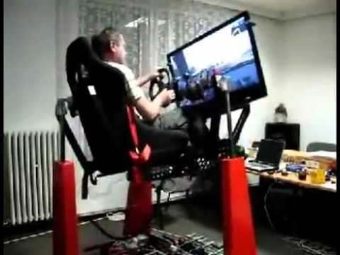 Hydraulic Racing Simulator Chair Outdoor Chairs Nz Amazing Gaming For Video Games Youtube