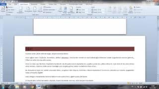 Word 2010 Görsel Eğitim 4 Sayfa Düzeni