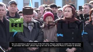 Ukraine: Tatars rally in Simferopol in support of Euromaidan protests