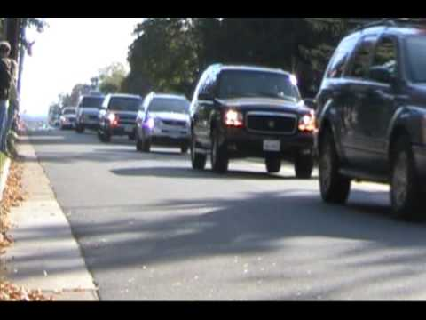 Motorcade for Stephen Mace
