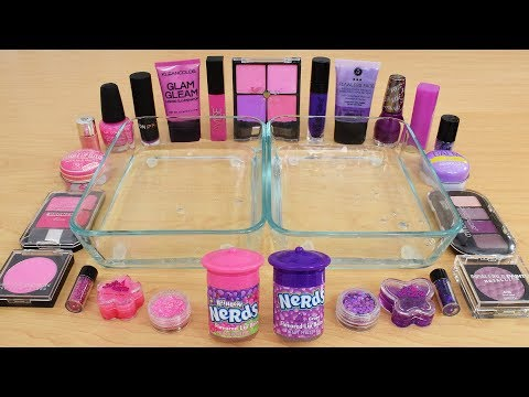 Pink vs Purple - Mixing Makeup Eyeshadow Into Slime Special Series 169 Satisfying Slime Video