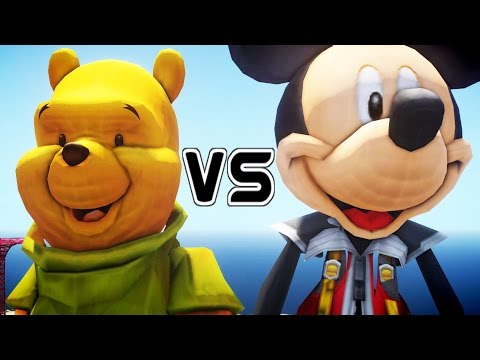 Winnie The Pooh VS Mickey Mouse - GREAT BATTLE
