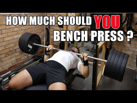 WHAT SHOULD THE AVERAGE PERSON BE ABLE TO BENCH PRESS?