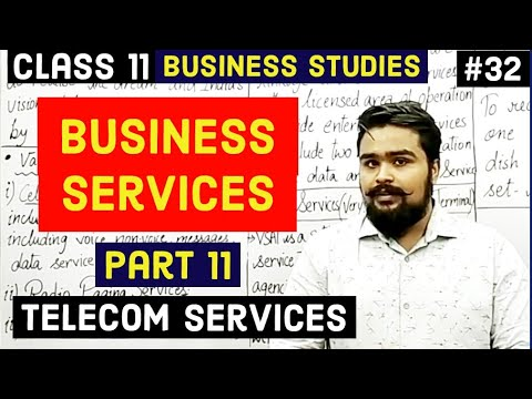 #32, telecom services ( class 11 business studies)