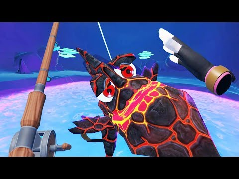 Massive Legendary Lava Fish! - Crazy Fishing Gameplay - VR HTC Vive Pro