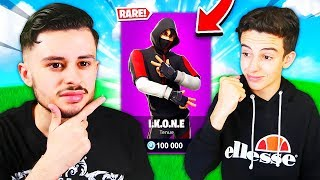I OFFER THE IKONIK SKIN TO MY SMALL FREE ON FORTNITE! HE'S SHOCKED... 😱