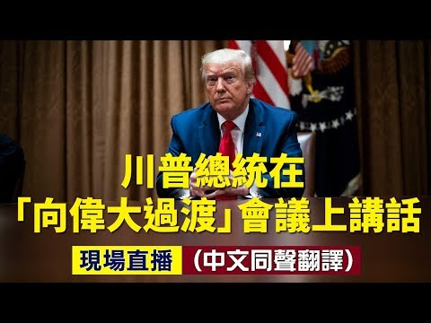 """川普在""""向伟大过渡""""会议上讲话(图/视频)"""