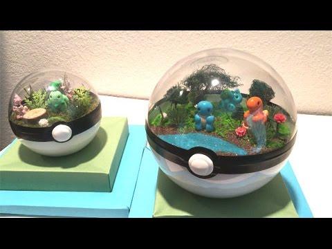 The Inside Of A Pokeball Pokemon Pokeball Terrariums Unboxing