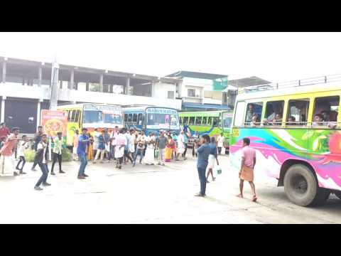 Flash mob in chalakudy private bus stand