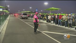 Frustrated Passengers Report Long Waits, Surge Pricing As New LAX Policy Goes Into Effect