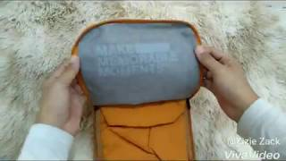 Suede Foldable Travel Bag Mp3