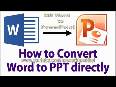 Convert Word Document Into Powerpoint 2007 Slides In Urdu