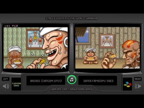 Street Fighter II (Arcade vs Snes) All Endings Comparison