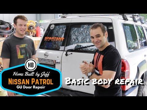 Basic body repair - Nissan Patrol GU Barn Door Repair