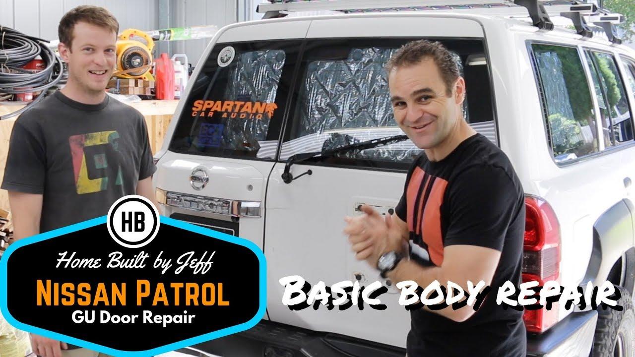 Basic Body Repair   Nissan Patrol GU Barn Door Repair
