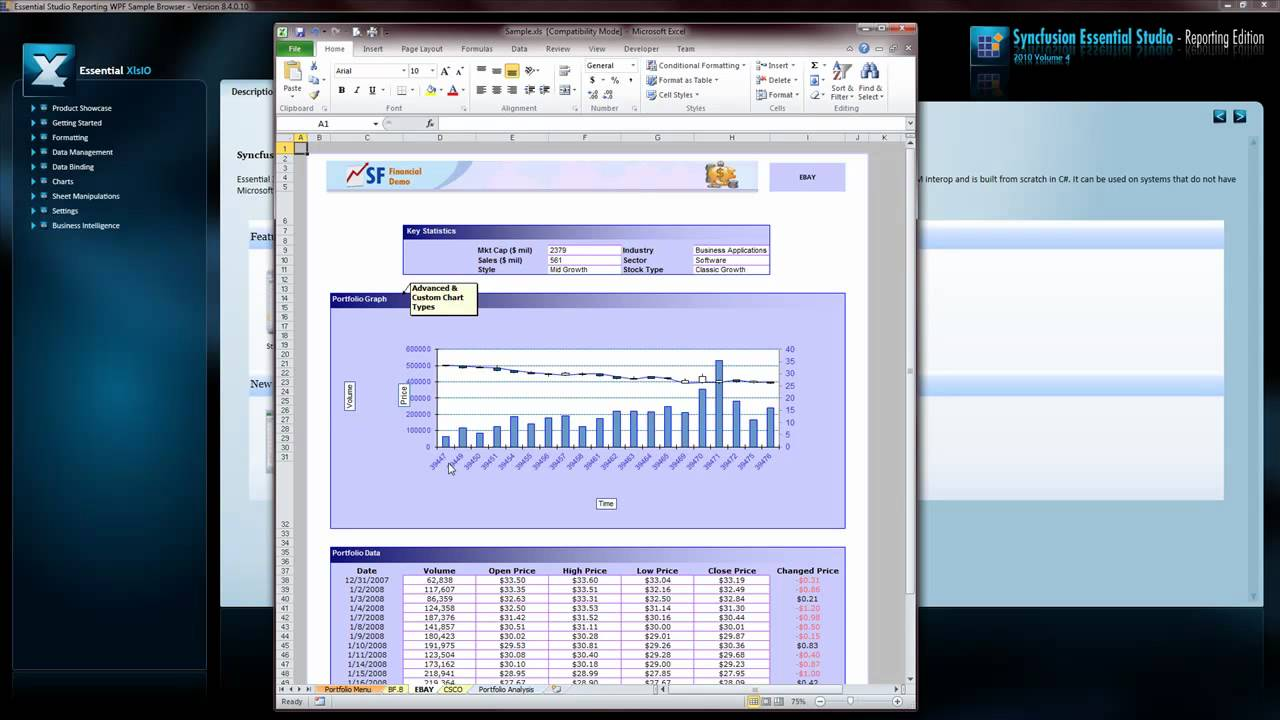Syncfusion - WPF Reporting Tools quick overview