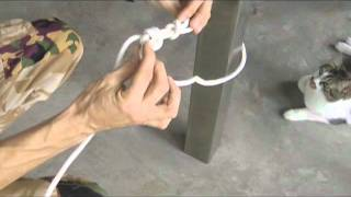 Knot School #2 - H๐w to anchor and tension a rope
