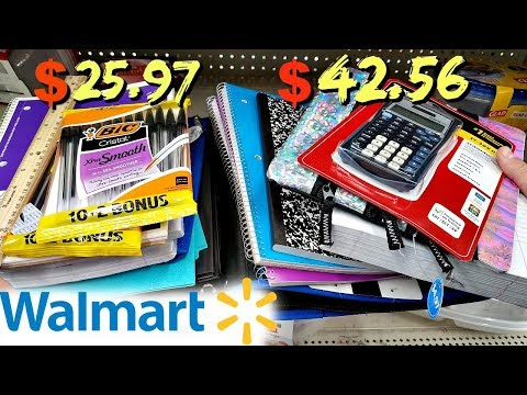 WALMART SCHOOL SUPPLIES GENERIC VS NAME...