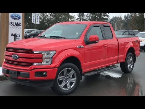 2019 Ford F-150 Lariat 5L SuperCab W/ tonneau Cover & bed Net| Review| Island Ford