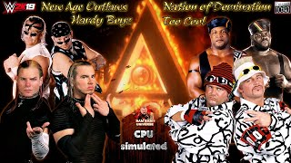 Hardy Boyz VS. Nation of Domination VS. Too Cool VS. New Age Outlaws   WWF   2K19 Gameplay