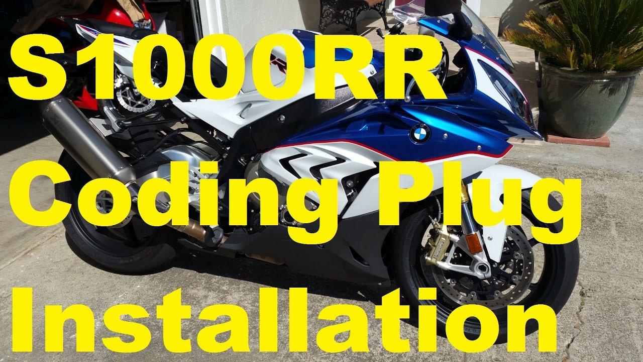 medium resolution of 2015 2016 bmw s1000rr coding plug installation slick mode user mode youtube