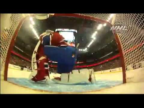 Carey Price tebowing during Breakaway Challenge!   NHL Skills Competition 2012