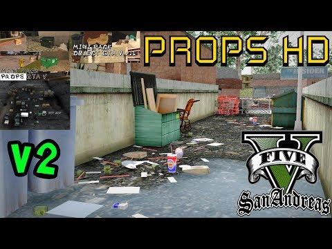 GTA V PACK DE PROPS EM HD V2 PARA SA BY OLIVEIRA Vídeo In 4K