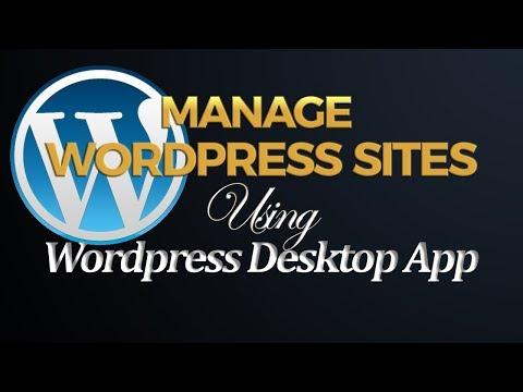 How to Add a Self Hosted WordPress site to WordPress Desktop App - 동영상