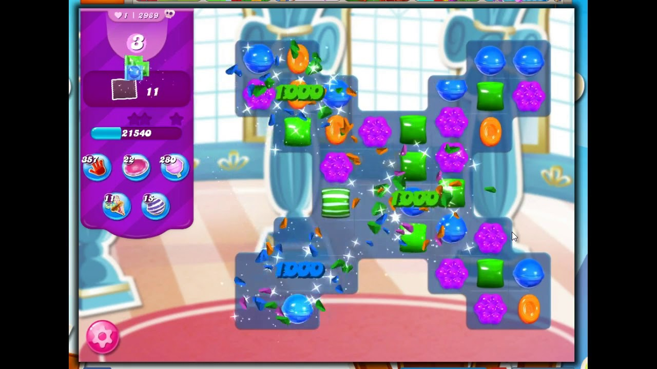 Download Candy Crush Level 2989 Talkthrough, 12 Moves 0 Boosters