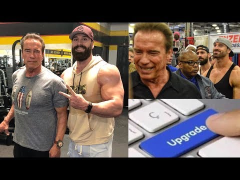 TRAINING WITH ARNOLD AT GOLDS GYM...