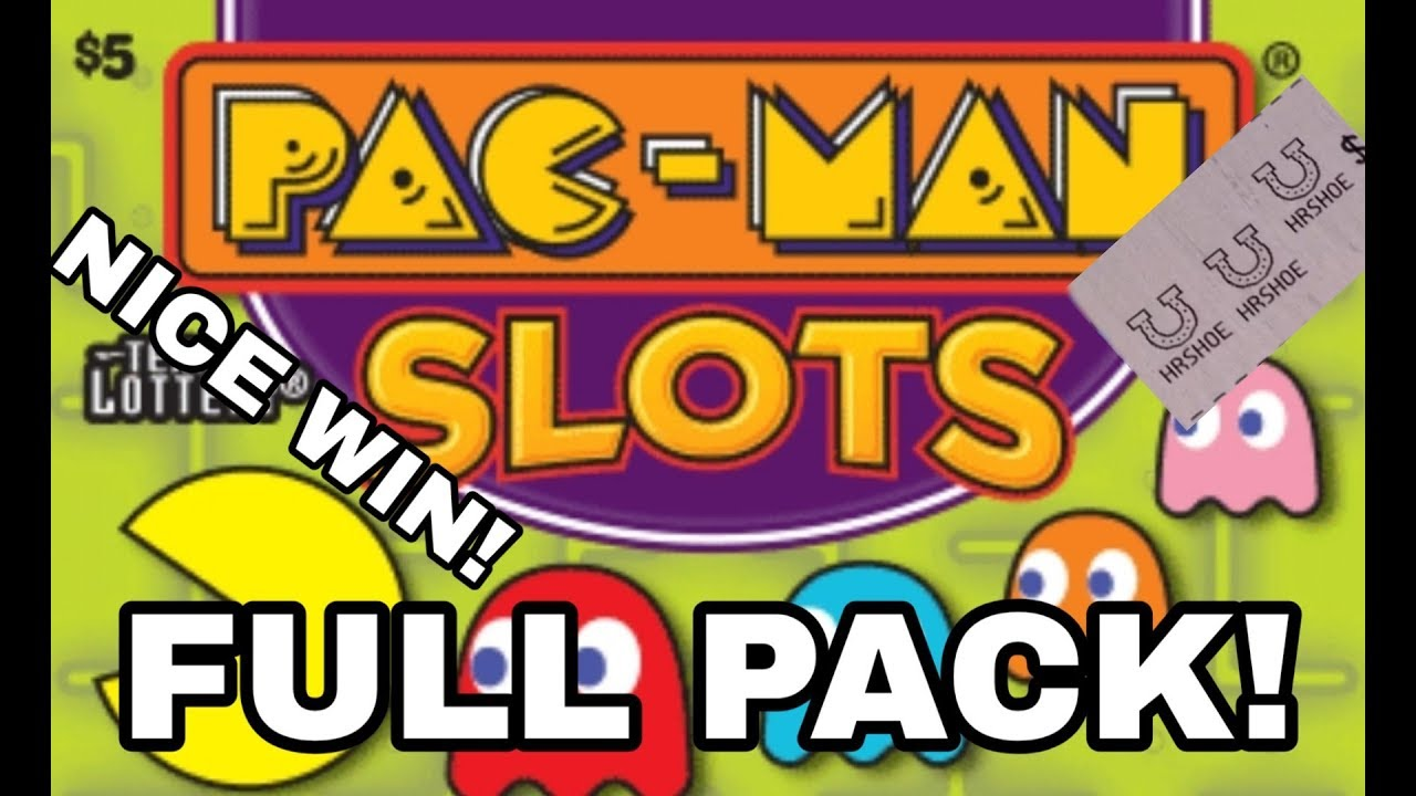 FULL PACK! BRAND NEW! PAC MAN SLOTS! $375 IN TEXAS LOTTERY SCRATCH OFF  TICKETS