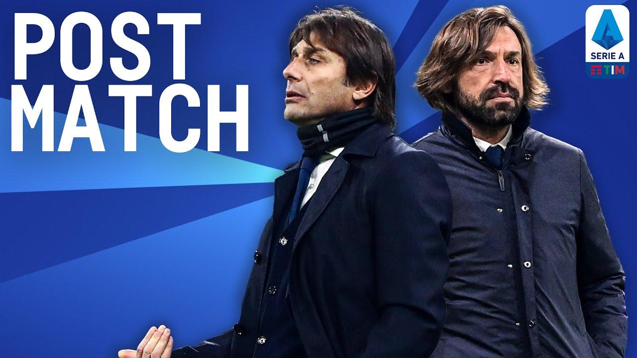 Inter 2-0 Juventus | Pirlo & Conte Post Match Press Conference | Serie A TIM