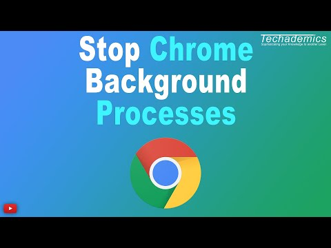 How To Stop Chrome From Running In Background - YouTube