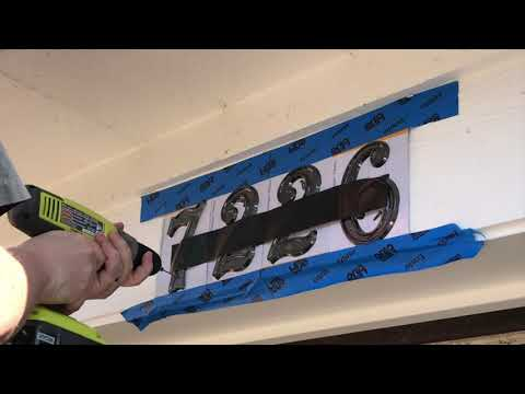Installing House Numbers the Lazy Way! (DIY Cheat)