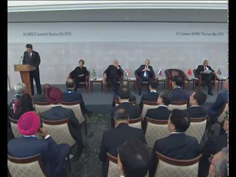PM Modi at the BRICS Business Council in Ufa, Russia