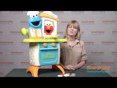 Sesame Street Come N Play Cookie Monster Kitchen Cafe From Hasbro Youtube