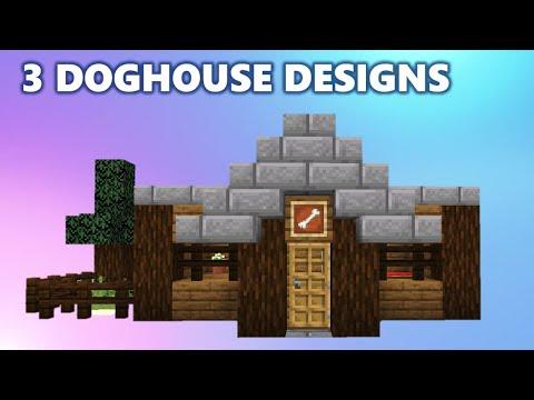 Three Doghouse Designs - Minecraft Tutorial
