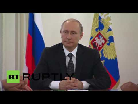 Russia: Putin chairs meeting on naval construction in St. Petersburg