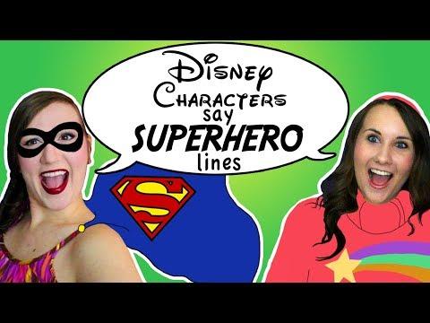 Disney Characters Say Superhero Quotes Ft. Adorkable Rachel - Madi2theMax