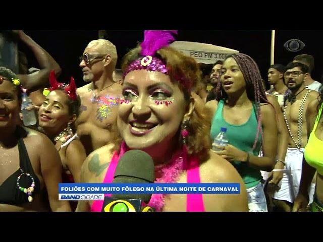 band Cidae - Foliões curtem última noite de carnaval em Salvador