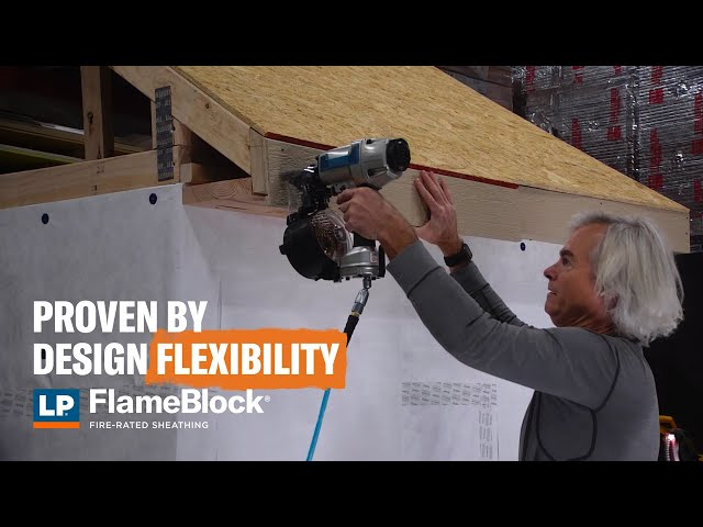 Proven by Design Flexibility: Soffit and LP® FlameBlock® Fire-Rated Sheathing