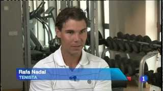 Nadal at his gym in Manacor, Mallorca (Spain)