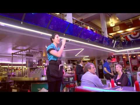 New York City Ellen's Stardust Diner on Broadway 1080p