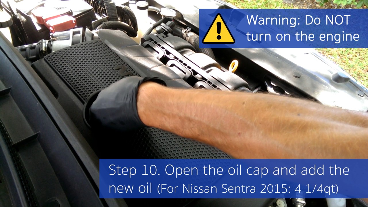 Oil Changing Step By Nissan Sentra 2017 Diy