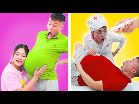 24 HOUR BEING PREGNANT ||  Pregnant Challenge With Man By Monkey Craft English
