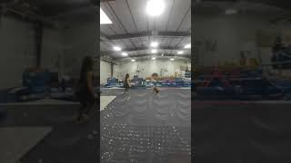 Gymnastics Junior Olympic floor evaluations Destini Alarcon January 6, 2018
